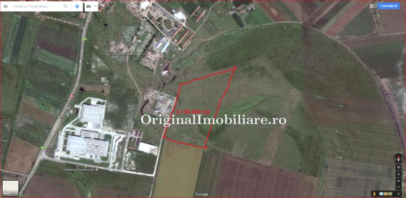 Teren 60.000 mp zona industriala Zimandu Nou