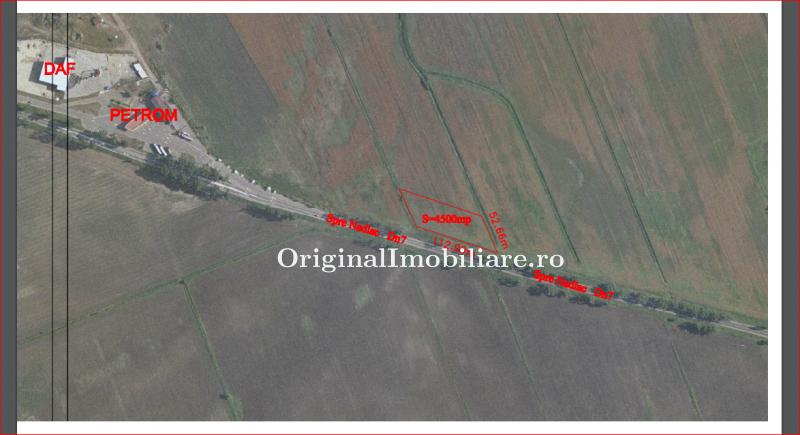 Teren 4.532 mp pe DN7 Arad - Pecica langa Petrom